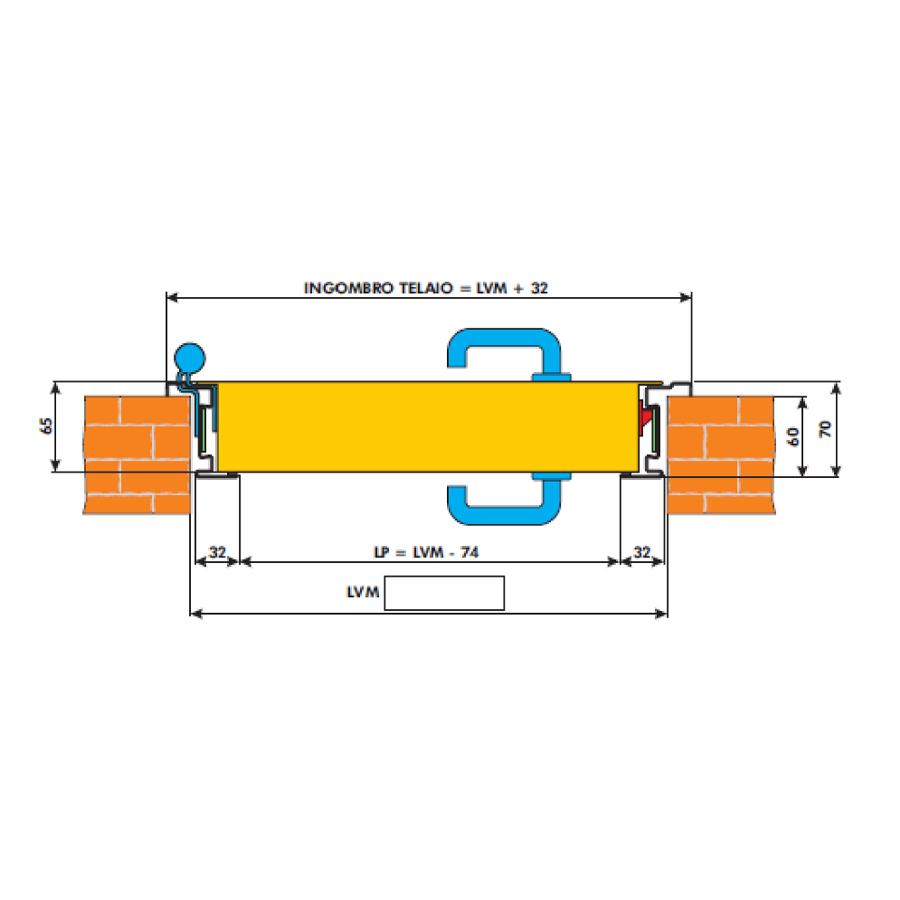 tuzgatlo-ajto-specialista-Diierre -split tűzgátló ajtó rajz